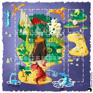 Tapis de Dino Twist 35x35